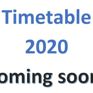 Timetable Coming soon