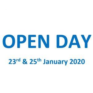Open Day! 23 & 25 Jan 2020