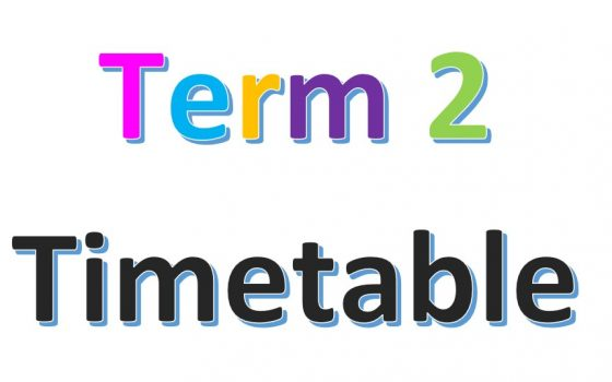 Term 2 2021 Timetable